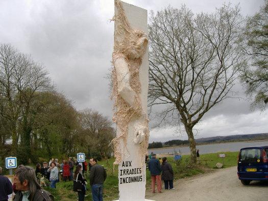 Stèle aux irradié-es inconnu-es
