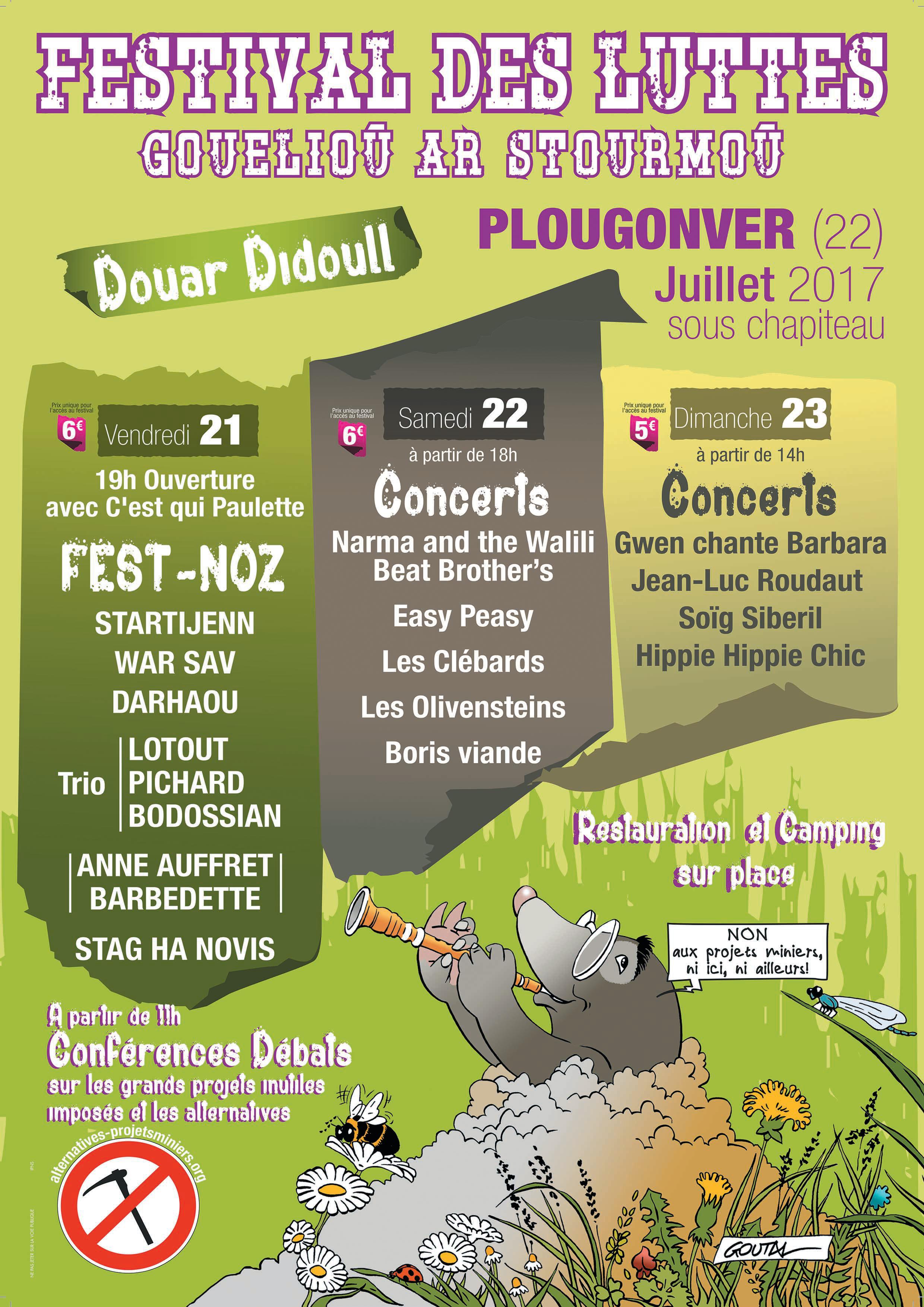 Festival des luttes / Gouelioù ar stourmoù à Plougonver